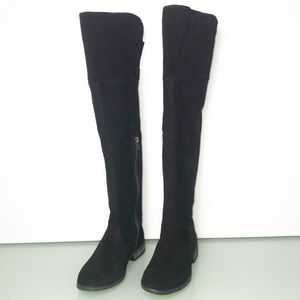 Born Black Dal Suede Leather Over Knee Boots Sz 6